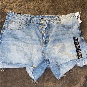 Gap cut off jean shorts